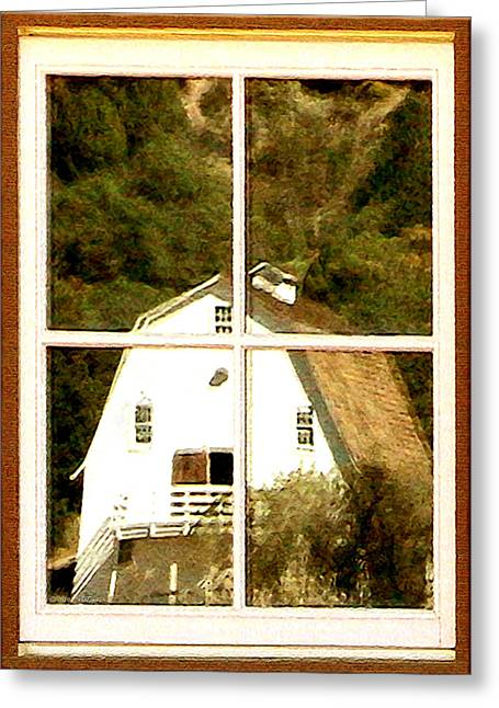 Barn Digital Art Greeting Cards - Suitably Farmed Greeting Card by Cristophers Dream Artistry