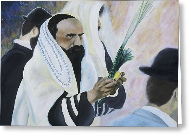 Shemini Atzeret Greeting Cards - Sukkot Greeting Card by Iris Gill