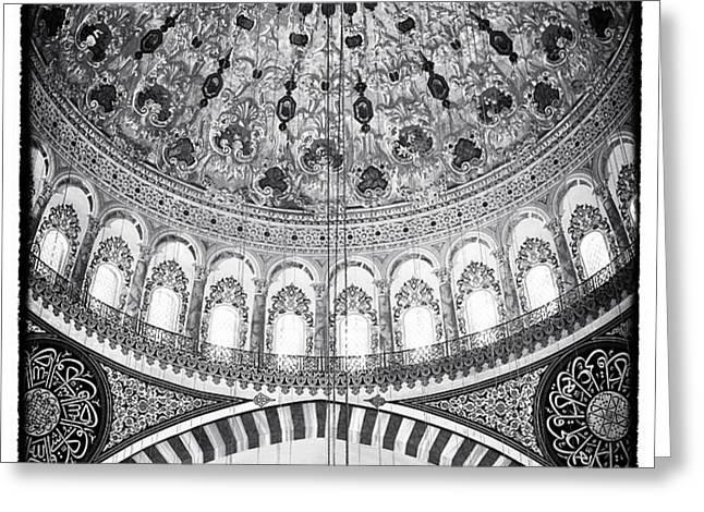 Suleymaniye Ceiling Greeting Card by John Rizzuto