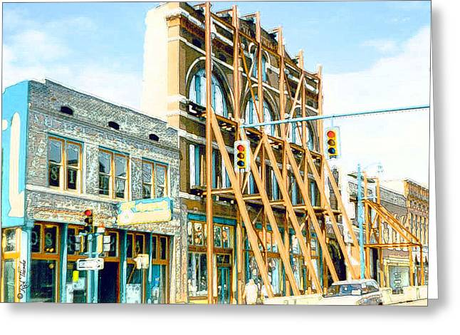 Tennessee Landmark Mixed Media Greeting Cards - Sulky OSullivans Greeting Card by Rick Thiemke