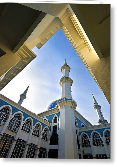 Malaysia Greeting Cards - Sultan Ahmad Shah State Mosque Greeting Card by Ng Hock How