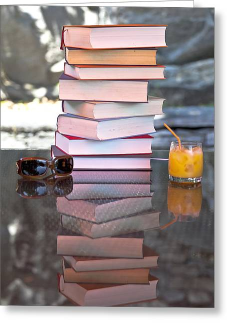 Read Greeting Cards - Summer - reading time Greeting Card by Joana Kruse