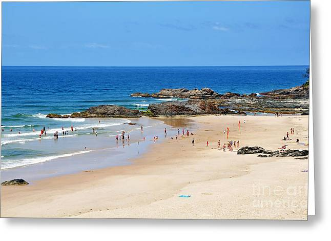 Ocean Scenes Greeting Cards - Summer at Port Macquarie Greeting Card by Kaye Menner
