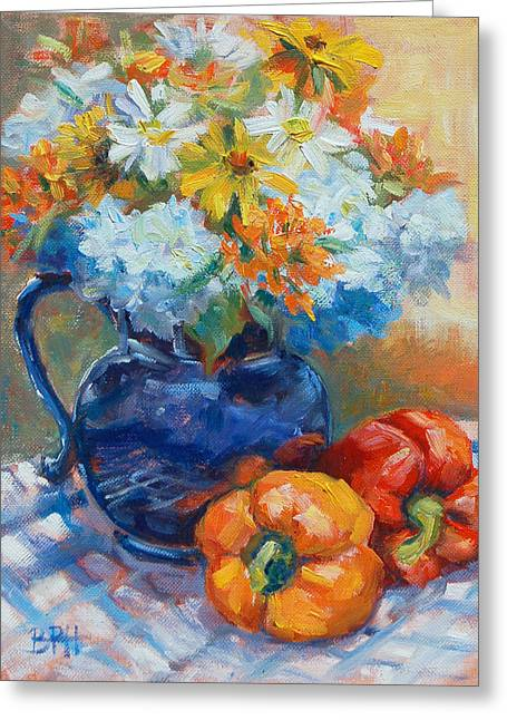 Dennis Ma Paintings Greeting Cards - Summer Greeting Card by Barbara Hageman