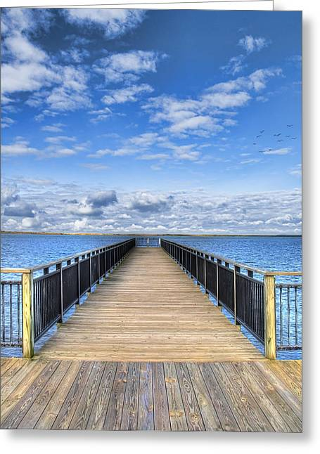Dock Greeting Cards - Summer Bliss Greeting Card by Tammy Wetzel