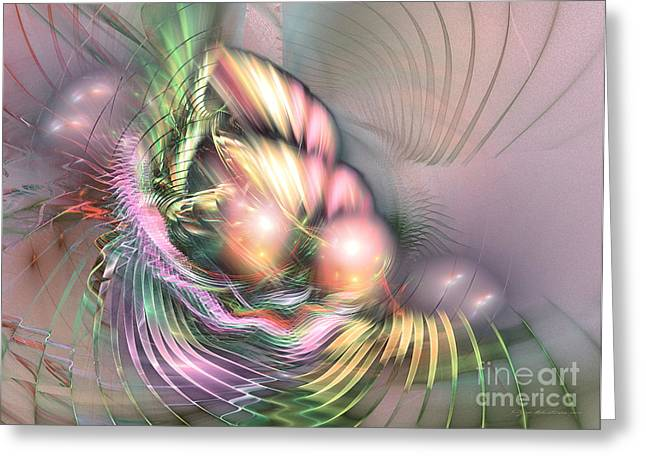 Summer Breeze - Fractal Art Greeting Card by Sipo Liimatainen