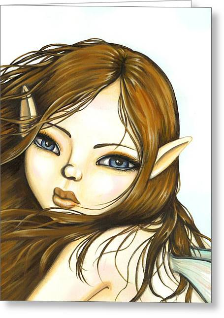 Fairies Greeting Cards - Summer Breeze Greeting Card by Elaina  Wagner