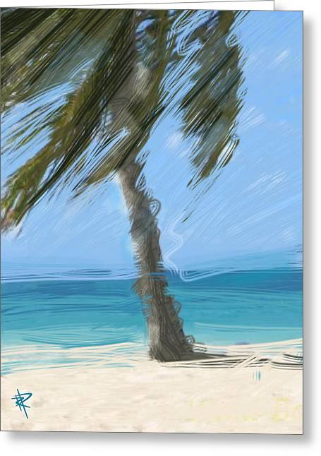 Tropical Island Mixed Media Greeting Cards - Summer Breezes Greeting Card by Russell Pierce