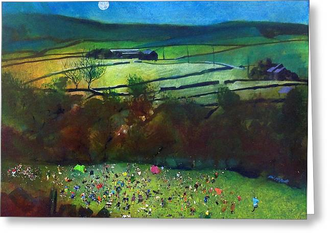 Country Greeting Cards - Summer Camp Late Arrival Greeting Card by Neil McBride