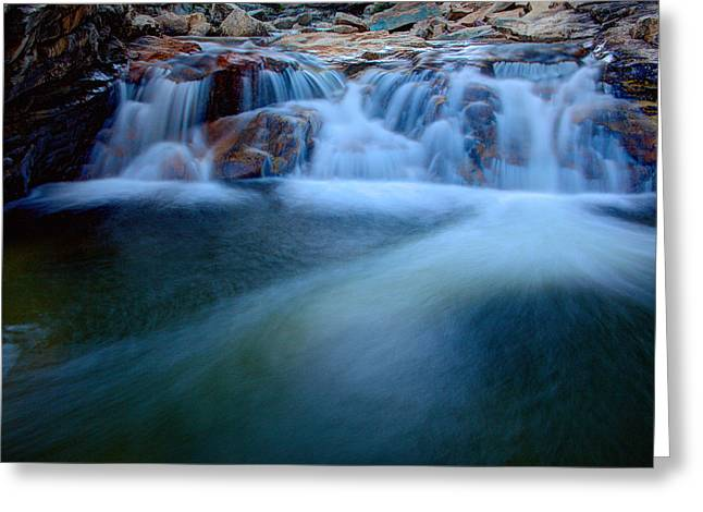 High Falls Gorge Greeting Cards - Summer Cascade Greeting Card by Chad Dutson