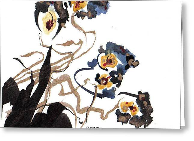 Sumi Greeting Cards - Summer Greeting Card by Casey Shannon