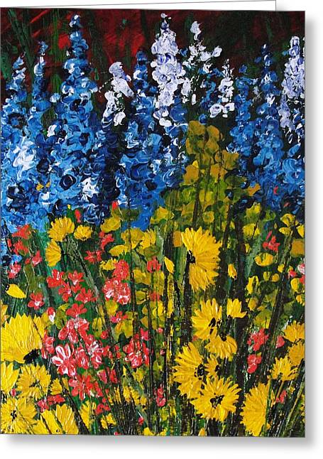 Pallet Knife Greeting Cards - Summer Colours Greeting Card by Shilpi Singh
