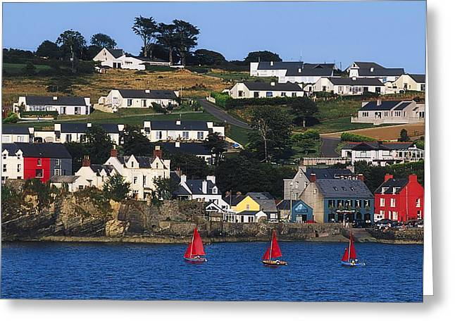 Best Sellers -  - Sailboat Images Greeting Cards - Summer Cove, Kinsale, Co Cork, Ireland Greeting Card by The Irish Image Collection