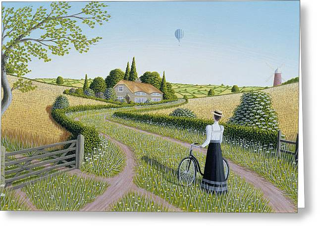 Thatch Greeting Cards - Summer Cycling Greeting Card by Peter Szumowski