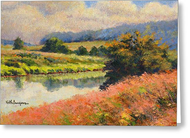 Wolf Creek Paintings Greeting Cards - Summer Day Greeting Card by Keith Burgess