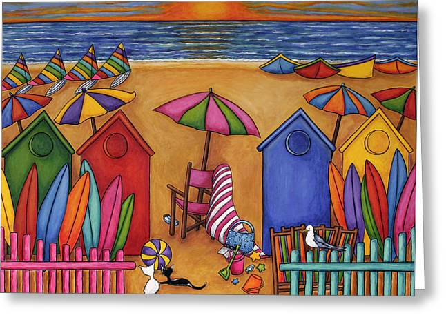 Sail Board Greeting Cards - Summer Delight Greeting Card by Lisa  Lorenz