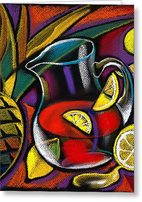 Decorative Fish Greeting Cards - Summer Drink Greeting Card by Leon Zernitsky