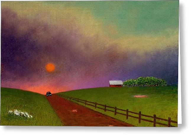 Summer Storm Greeting Cards - Summer Dustup Greeting Card by Gordon Beck