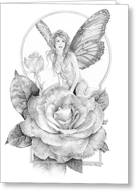 Faeries Greeting Cards - Summer Faerie - The Season Faeries Greeting Card by Steven Paul Carlson