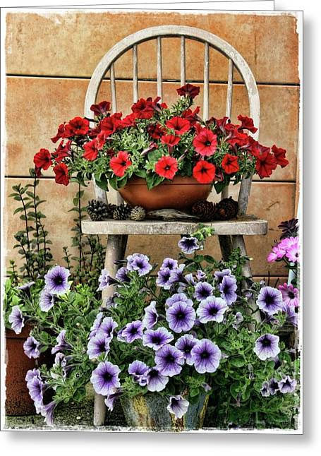 Julie Williams Greeting Cards - Summer Garden Greeting Card by Julie Williams