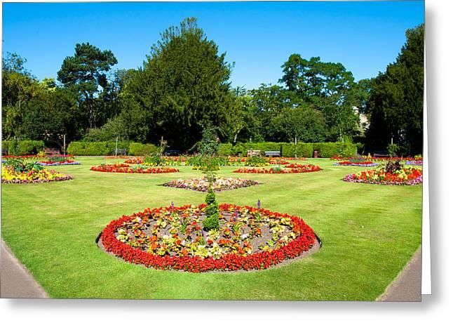 Abbey Greeting Cards - Summer garden Greeting Card by Tom Gowanlock