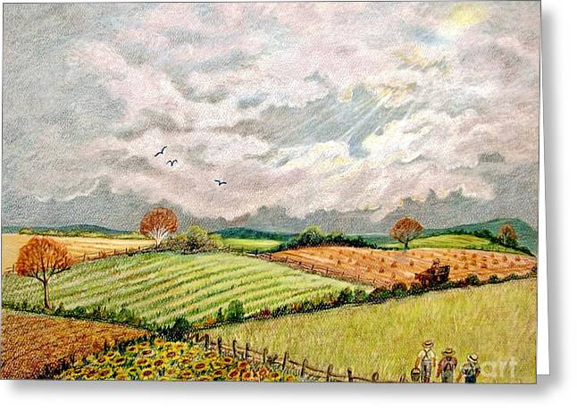 Summer Harvest Greeting Card by Marilyn Smith