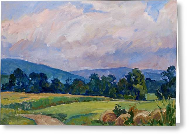 Thor Paintings Greeting Cards - Summer Haze Berkshires Greeting Card by Thor Wickstrom