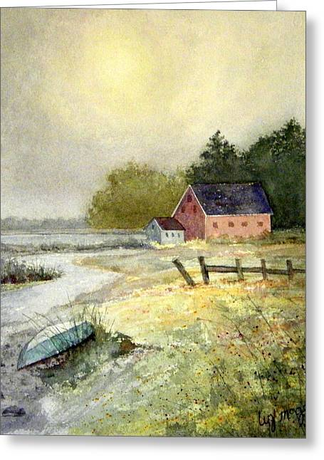 Haze Paintings Greeting Cards - Summer Haze Greeting Card by Lizbeth McGee