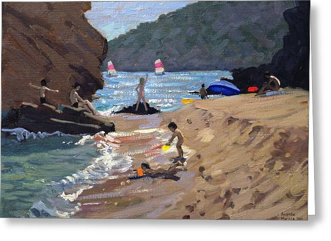 Hilly Greeting Cards - Summer in Spain Greeting Card by Andrew Macara