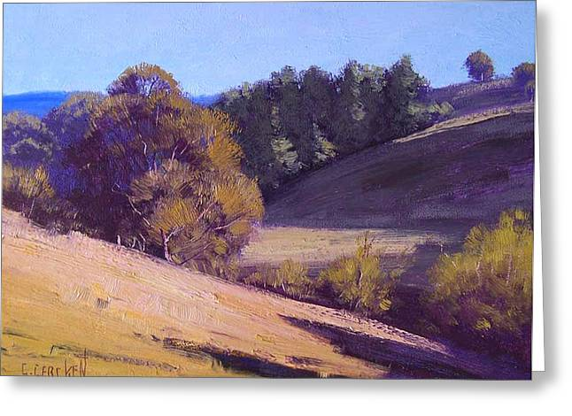 Central Greeting Cards - Summer Landscape Greeting Card by Graham Gercken