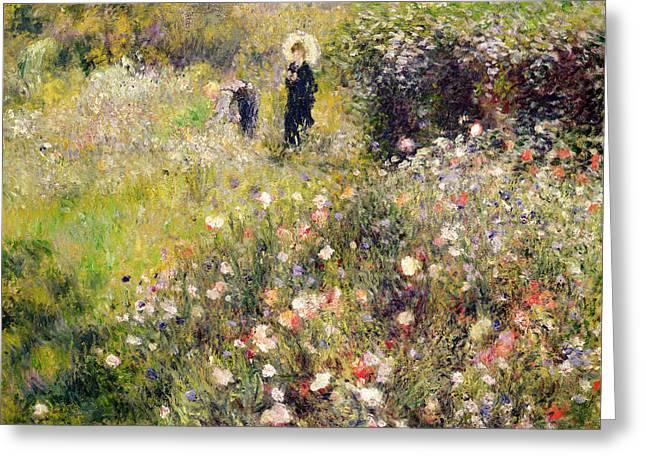 Summer Landscape Greeting Cards - Summer Landscape Greeting Card by Pierre Auguste Renoir