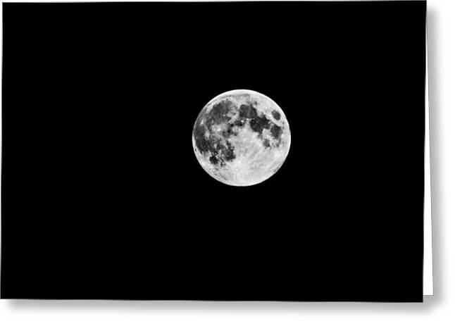 Summer Moon Greeting Card by Paul Howarth