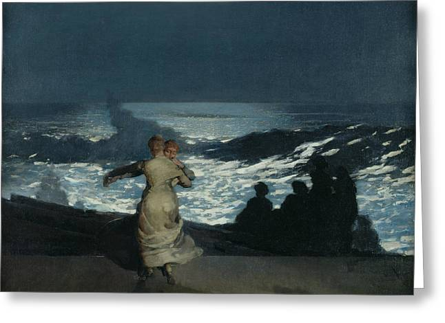 Homer Greeting Cards - Summer Night Greeting Card by Winslow Homer