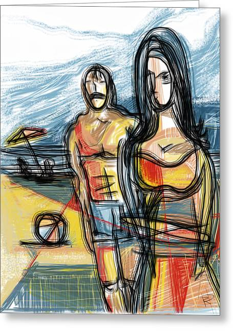 Swimsuit Mixed Media Greeting Cards - Summer of 72 Greeting Card by Russell Pierce