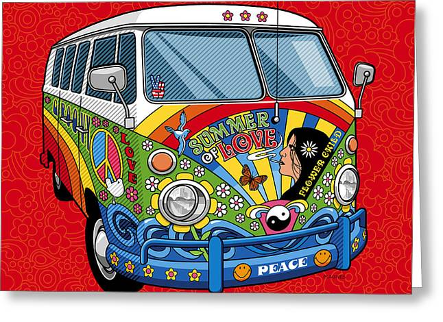 Party Digital Art Greeting Cards - Summer of Love Greeting Card by Ron Magnes