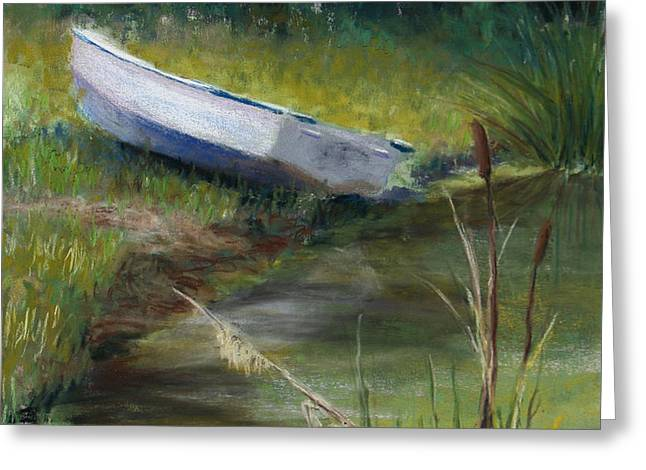 Summer Pond Greeting Card by Susan Jenkins