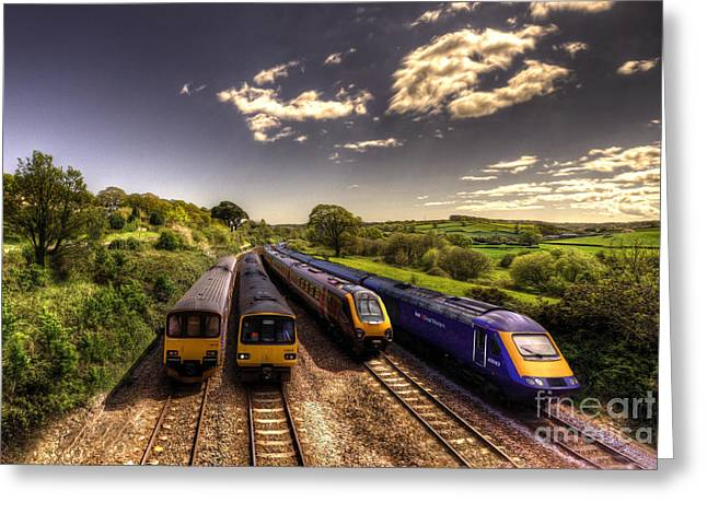 Summer Saturday at Aller Junction Greeting Card by Rob Hawkins