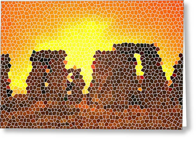 Summer Solstice At Stonehenge Greeting Card by Steve Huang