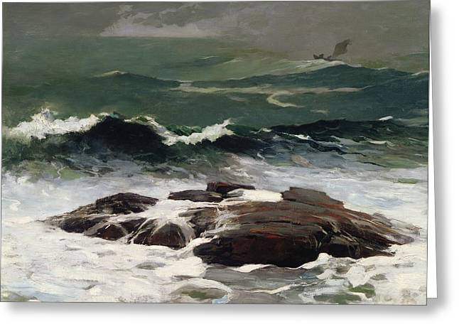 Summer Storm Greeting Cards - Summer Squall Greeting Card by Winslow Homer