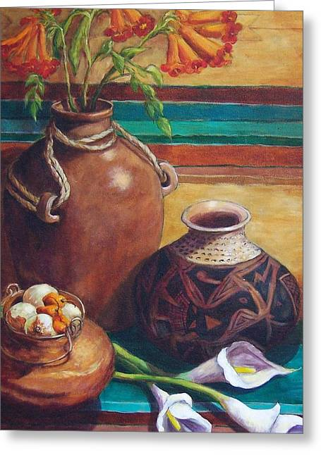 Rugs Greeting Cards - Summer Still life Greeting Card by Candy Mayer