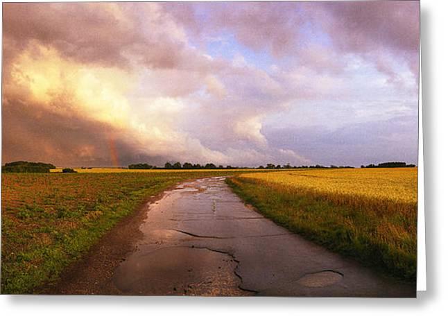Summer Storm Raf Lavenham Greeting Card by Jan Faul