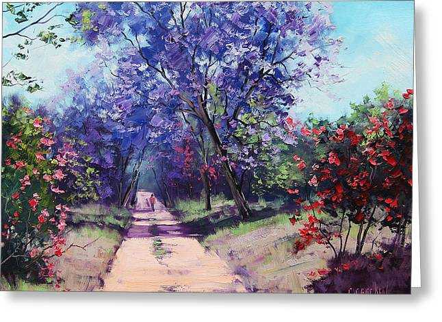 Any Greeting Cards - Summer Stroll Greeting Card by Graham Gercken