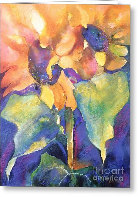 Florals Greeting Cards - Summer Sunflowers Greeting Card by Kate Bedell