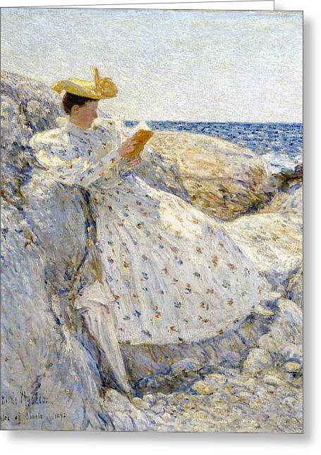 Summer Dresses Greeting Cards - Summer Sunlight Greeting Card by Childe Hassam