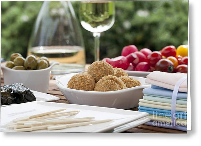 Olive Snacks Greeting Cards - Summer Tapas Greeting Card by Charlotte Lake