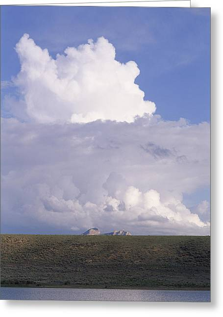 Simple Beauty In Colors Greeting Cards - Summer Thunderheads Build Over Heart Greeting Card by Gordon Wiltsie