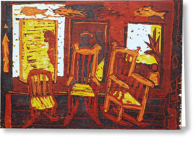 Chair Reliefs Greeting Cards - Summer time Greeting Card by Dee Timm