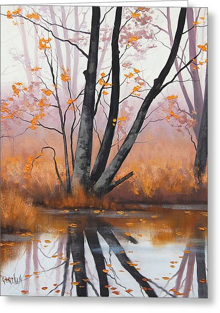 River Paintings Greeting Cards - Summer Tones Greeting Card by Graham Gercken