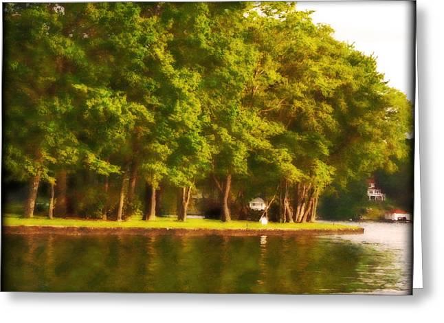 Femina Photo Art Greeting Cards - Summer Trees Lake Hopatcong Greeting Card by Maggie Vlazny