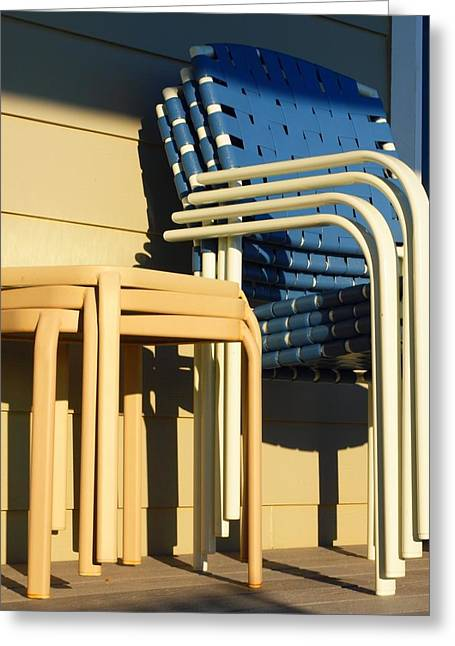 Lawn Chair Greeting Cards - Summers End Greeting Card by Jim Moore